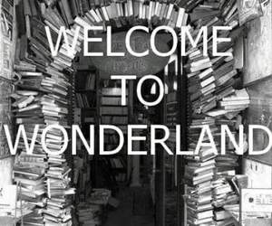 book, wonderland, and welcome image