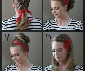 rojo, cabello, and peinados image