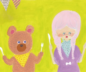 background, bears, and girls image