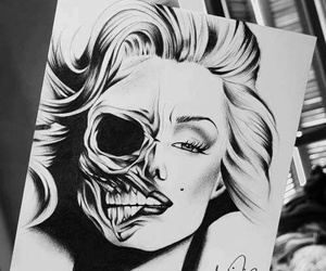 drawing, Marilyn Monroe, and art image