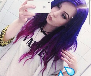 color hair, hair, and violet image