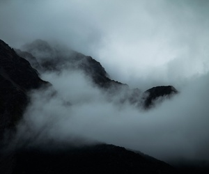 grunge, mountains, and nature image
