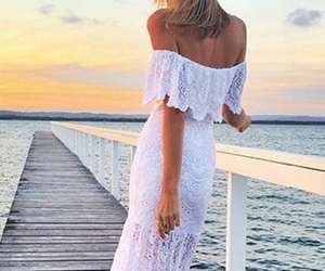 lace, zaful, and maxi dress image