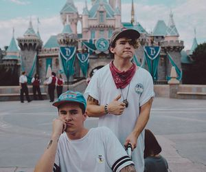 jc caylen, kian lawley, and disneyland image