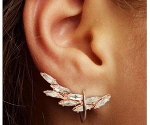 girl, ear, and earrings image