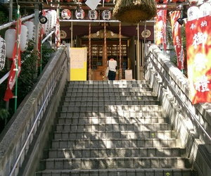 japan, shine, and stairs image