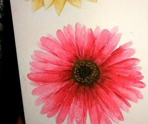 flowers, gerbera, and painting image