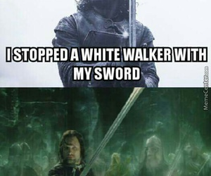 aragorn, lord of the rings, and game of thrones image
