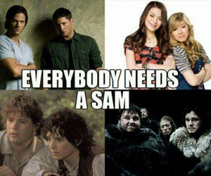 Sam, supernatural, and icarly image