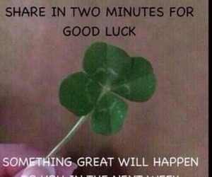 luck and good luck image