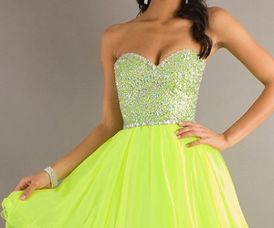 beading, homecoming dress, and junior prom dress image