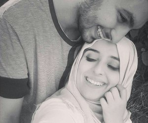 black and white, true love, and halal love image