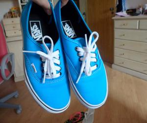 blue, vans, and vans off the wall image