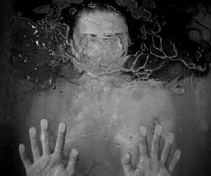 water, girl, and grunge image