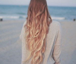 hair, beach, and blonde image