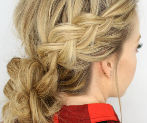 hairstyle, prom hairstyle, and braid updo image