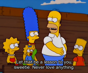 bart, Maggie, and quote image