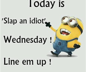 funny, minions, and slap image