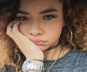 beautiful, curly hair, and crystal westbrooks image