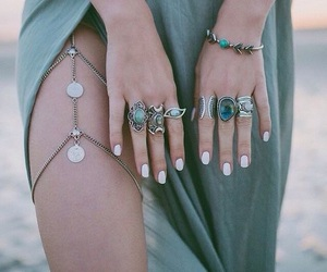 bracelet, green, and jewelry image