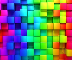 colors, rainbow, and cube image