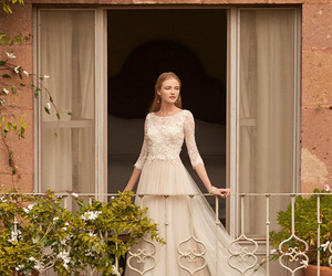 girl, bride, and wedding image