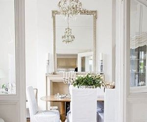 chandelier, dining room, and house image
