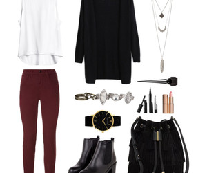 black cardigan, fashion, and outfit image