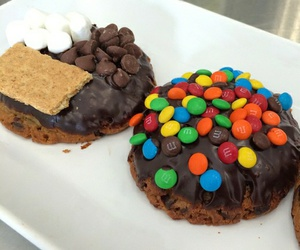 chocolate, donuts, and nutellla image
