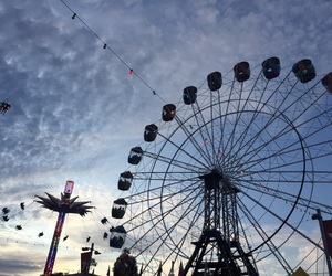 carnival, ferris wheel, and summery image