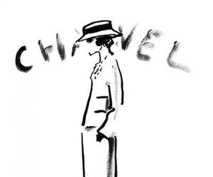 chanel, drawing, and coco chanel image