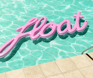 pool, float, and summer image