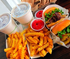 food, burger, and delicious image