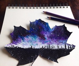 art, awesome, and leaf image