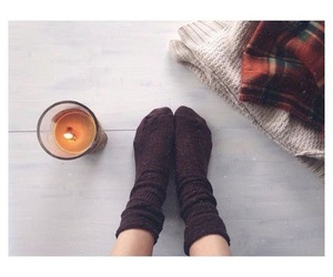blanket, fall, and plaid image