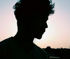 boy, Hot, and sunset image