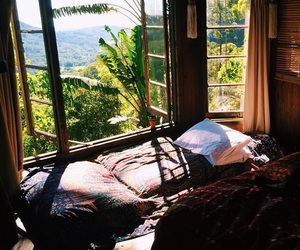 bed, nature, and sea image
