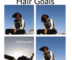 funny, hair, and Harry Styles image