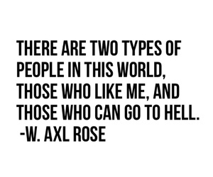 quote, Guns N Roses, and W. Axl Rose image