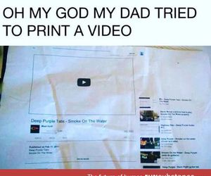 funny, dad, and video image