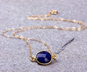 bridesmaid necklace, lapis necklace, and royal blue necklace image