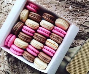 chocolate, luxury, and macarons image