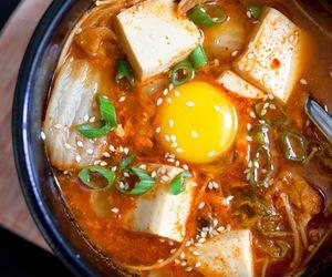 food, tofu, and korean food image