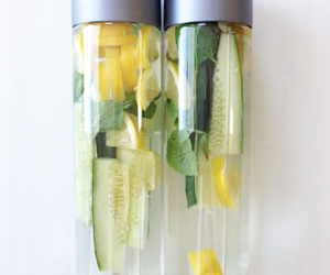 water, cucumber, and delicious image