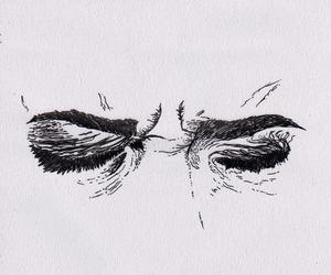 eyes, art, and drawing image