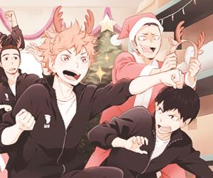 haikyuu, anime, and christmas image