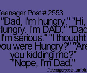 dad, funny, and teenager post image