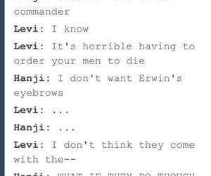 anime, Erwin, and eyebrows image