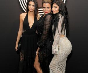 kylie jenner, kendall jenner, and khloe kardashian image