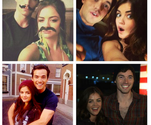 pll, lucy hale, and ezria image